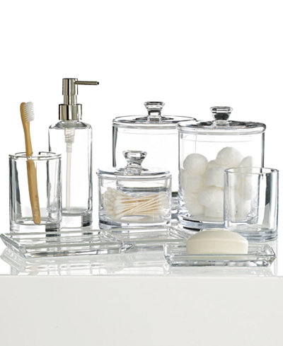 Hotel Collection Glass Bath Accessories Collection  Created for Macy s. CLOSEOUT  Hotel Collection Glass Bath Accessories Collection
