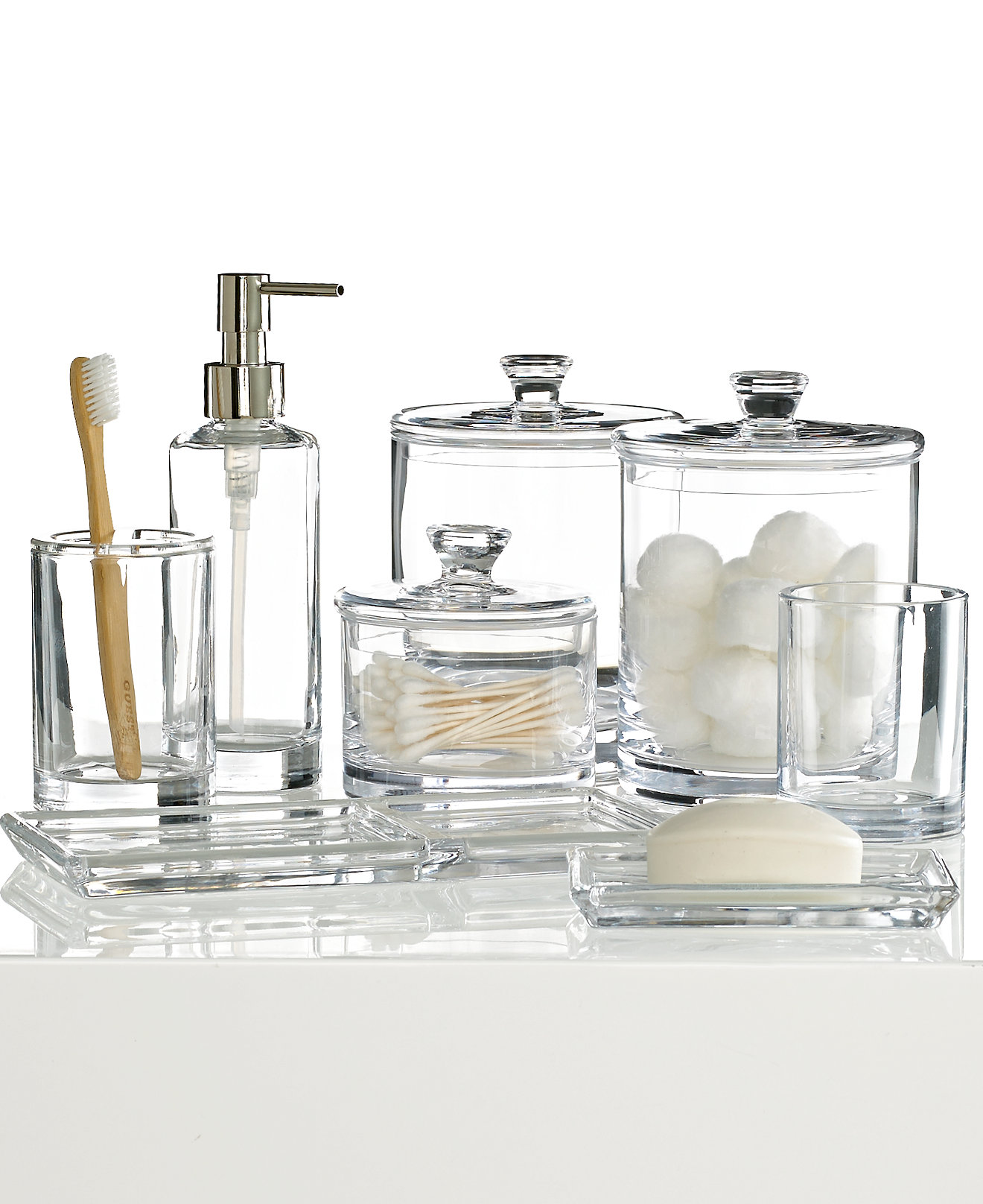 Bathroom fittings set - Hotel Collection Glass Bath Accessories Collection Only At Macy S Bathroom Accessories Bed Bath Macy S