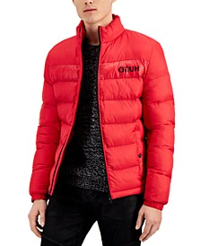 Hugo Boss Men's Balto Slim-Fit Quilted Logo-Print Puffer Jacket