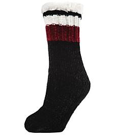 Varsity Chenille Plush Lined Women's Slipper Sock