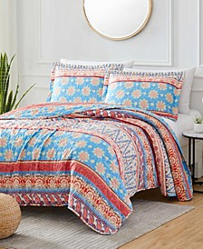 Georgetown Rayna 3-Piece Reversible Quilt Set, Queen