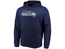 Seattle Seahawks Men's Distressed Logo Hoodie