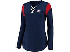 Columbus Blue Jackets Women's Iconic Lace Up Long Sleeve Shirt