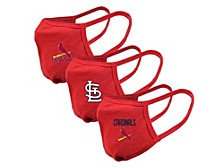 """Level Wear St. Louis Cardinals 3pack """"Guard 2"""" Face Covering"""