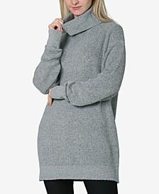 Juniors' Cowlneck Tunic Sweater
