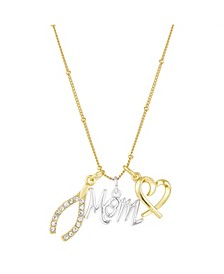 Personalize Your Own Charm Necklace in Fine Silver Plate & Gold Flash Plate