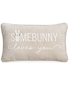 """14"""" x 24"""" Some Bunny Loves You Decorative Pillow"""