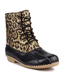 Women's Skylar Animal Print Duck Boots