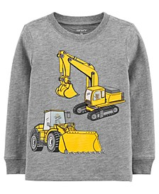 Toddler Boys Construction Action Graphic Slub Jersey Tee