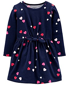 Toddler Girls Heart Jersey Dress