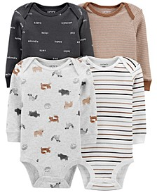 Carters Baby Boy 4-Pack Animal Print Original Bodysuits
