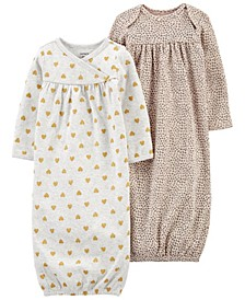 Carters Baby Girl 2-Pack Sleeper Gowns