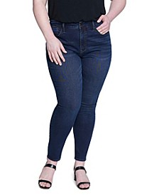 Women's Plus Size Textured Skinny High-rise Jean