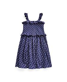 Big Girls Floral Smocked Cotton Dress