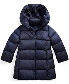 Little Girls Quilted Hooded Down Coat