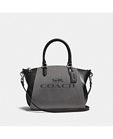 Horse and Carriage Jacquard Elise Satchel