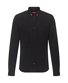 Men's ERO3 Long Sleeve Woven Shirt with Reflective Print Detail on Collar
