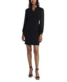 Women's Sparkle Jersey Chiffon Dress