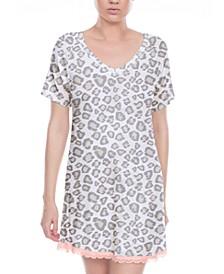 All American Lace-Trim Sleep Shirt