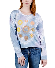Juniors' Long-Sleeve Tie-Dye Graphic T-Shirt