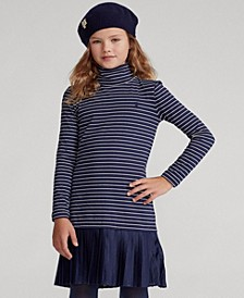 Big Girls Pleated-Skirt Turtleneck Dress