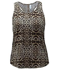 Leopard-Print Diamond-Back Tank Top, Created for Macy's
