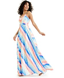 Juniors' Rainbow Stripe Gown, Created for Macy's