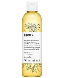 Nature In A Jar Nourishing In-Shower Oil With Hemp-Derived Sativa Seed Oil, 8-oz.