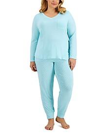 Plus Size Sleep Pocket T-Shirt & Jogger Pajama Pants Collection, Created for Macy's