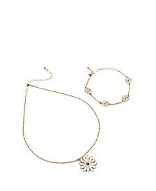 Girls Charm Necklace and Bracelet Set