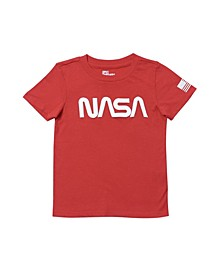 Little Boys Short Sleeve NASA Tee
