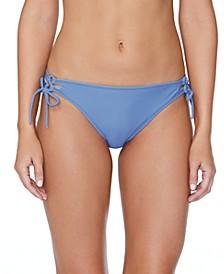 Juniors' Solid Sweet Side Bikini Bottoms