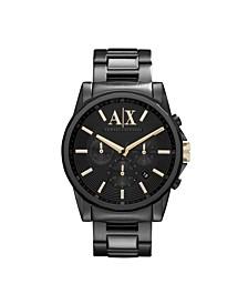 AX Men's Black Stainless Steel Bracelet Watch 45mm