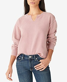 Cotton Raw-Hem Relaxed Top
