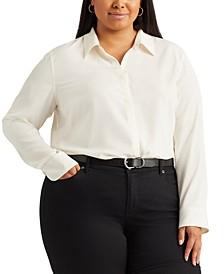 Plus Size Plus-Size Crepe Shirt
