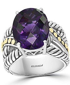 EFFY® Amethyst Statement Ring (9 ct. t.w.) in Sterling Silver & 18k Gold-Plate (Also in Citrine and Blue Topaz)