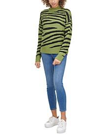 Cotton Zebra-Print Sweater