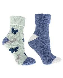 Women's Non-Skid Warm Soft and Fuzzy Aroma Sole Slipper Socks, 5 Piece