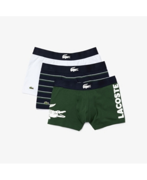 LACOSTE MEN'S ICONIC FASHION TRUNKS, PACK OF 3