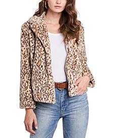 Faux-Fur Leopard-Print Jacket