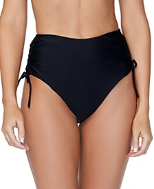 Solid High-Waist Isla Tie Bikini Bottom