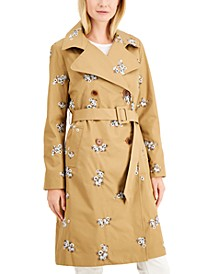 Embroidered Trench Coat, Created for Macy's