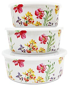 Floral Nesting Food Storage Containers, Set of 3, Created for Macy's