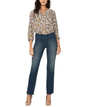 Nydj PETITE PULL-ON STRAIGHT-LEG SURESTRECH DENIM JEANS