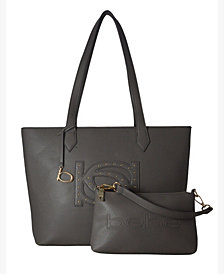 bebe Oliver 2-Piece Medium Tote with Pouch