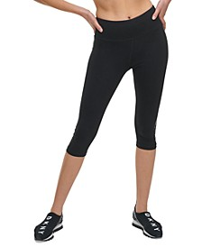 Sport Rhinestone High-Waist Cropped Leggings