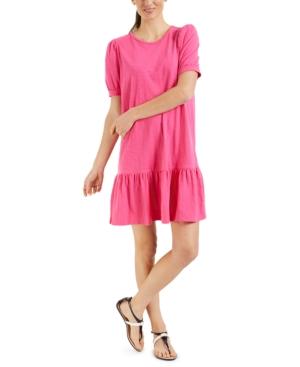 Charter Club Dresses PETITE RUFFLED DRESS, CREATED FOR MACY'S