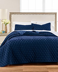 Diamond Tufted Velvet Twin/Twin XL Quilt, Created for Macy's
