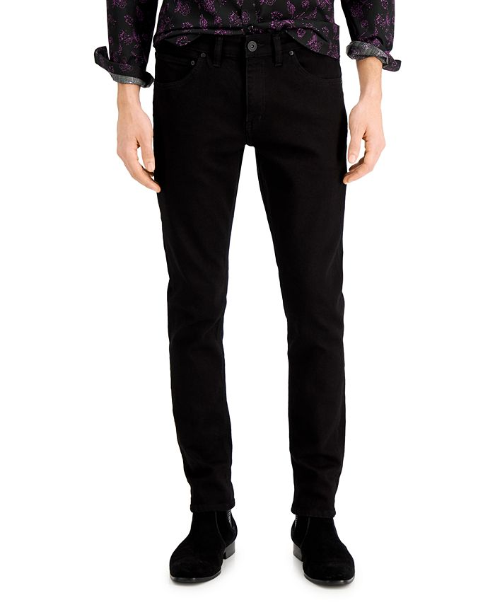 INC International Concepts - Men's Black Wash Skinny Jeans, Created for Macy's