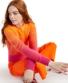 Petite Long-Sleeve Ombre Sweater, Created for Macy's